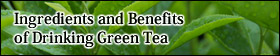 Ingredients and Benefits of Drinking Green Tea